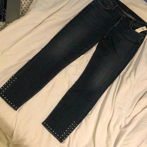 Citizens of humanity Rocket studded skinny jeans